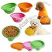 Portable Folding Pet Feeding Silicone Bowl