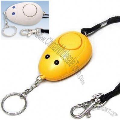 Portable Handbag Personal Alarm Keychain with Carrying Strap and Hook