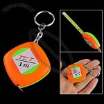 Portable Measure Tape Pocket Ruler Keyring 1m