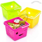 Portable Plastic Smiley Desktop Storage Basket