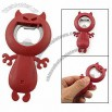 Portable Red Plastic Devil Style Wine Beer Metal Bottle Opener