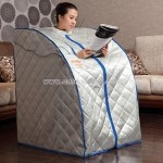 Portable Sauna with Compact Folding Chair and Heating Foot Pad