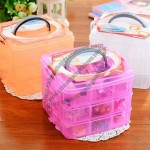 Portable Three Layer Removable Transparent Jewelry Box