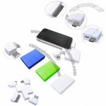 Portable USB Charger for Apple's iPod/iPhone/iPad/Nokia/Samsung, with Mini/Micro USB Plug