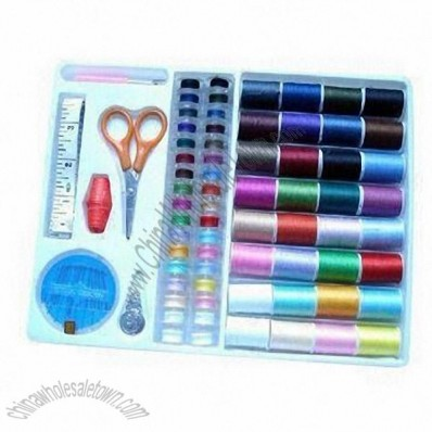 Portable and Complete with Box Package Travel Sewing Kit with Full Sewing Materials for Housework