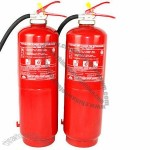Portable fire extinguisher, 12kg powder with propellant gas cartridge