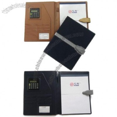 Portfolio with Calculator, Cards/Documents, Pen Loop and Memo Pad