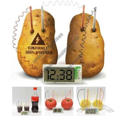 Potato Clock - Fruit Powered Clock