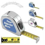 Power tape measure in shock resistant chrome case with English markings