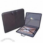 Prat Paris Start 4 Genuine Leather Portfolio, Zippered Binder with Internal Holding Straps