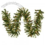 Pre-Lit 9-Foot Artificial Mixed Country Pine Garland