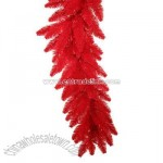 Pre-Lit 9-Foot Artificial Red Ashley Garland