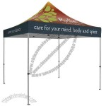 Premium 10' square tent with full-color, full bleed dye-sublimation imprint