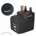 Premium Coated Dual USB Charger - 1A