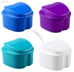 Premium Denture Bath cleaning container with Strainer