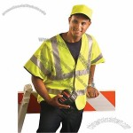 Premium Solid Dual Stripe Safety Vest Yellow