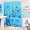 Printed Dots Polyester Shower Curtain and Bathroom Accessories