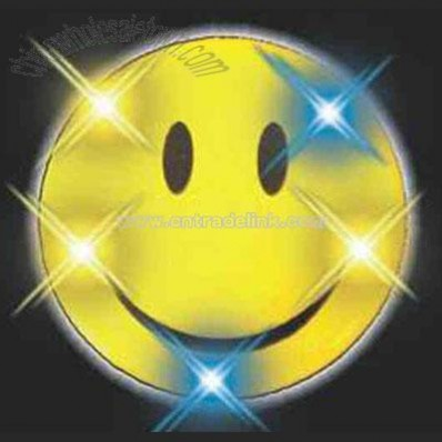 Printed Smiley Face Magnetic Flashing Pin