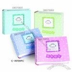 Printed paper cover with glitter and window Baby Album