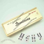 Professional Double 6 Urea Dominoes, Set Of 28 Pieces In Wooden Case, Standard Tile