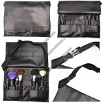Professional Make Up Brushes Belt Tool Pocket Bag With 21 Slots For Brushes - Black