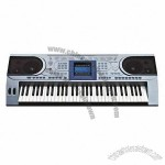 Professional Type Standard Electronic Keyboard with 61 Keys, LCD Display and MIDI Jack