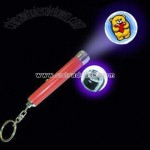 Projector Flashlight keychain