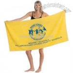 Promo weight hemmed colored beach towel