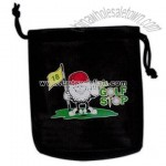 Promotion Item Black synthetic leather golfer's pouch