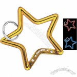 Promotional Blue - Multi-functional Star Shape Carabiner With Ring
