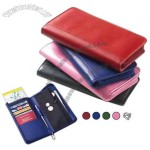 Promotional Colored Leather Passport Wallet With Interior Organizer With Credit Card Slots
