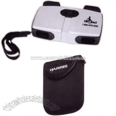 Promotional Compact Aluminum Pocket Binoculars With A Padded Nylon Case