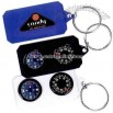 Promotional Compass And Thermometer Key Tag
