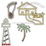 Promotional Custom designed genuine rhinestone lapel pin