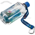 Promotional Dye-sublimated Water Bottle Strap With Carabiner And Rubber