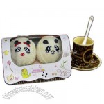 Promotional Gift Panda Cake Towels