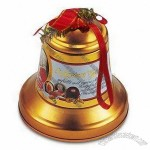 Promotional Gift Tin Box in Xmas Bell Shape