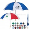 Promotional Golf Umbrella With Metal Shaft And Wood Handle