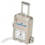 Promotional Luggage - Silver Metal Replica Desk Clock