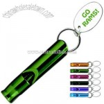 Promotional Metal 12 Mm Round Whistle With Key Tag