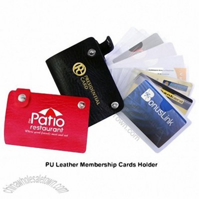 Promotional PU Leather Membership Rewards Name Cards Holder