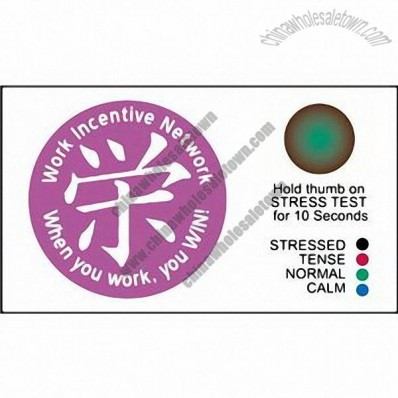Promotional Pick 4 (TM) - Magnetic business/stress card with custom design and
