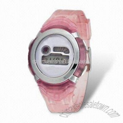 Promotional Plastic Sports Watch with Logo Space