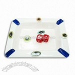 Promotional Poker Ashtray with 2 Red Dices Artwork