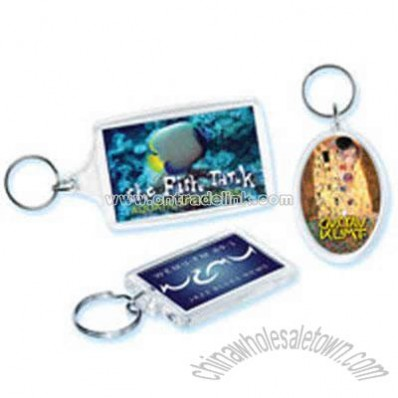 Promotional Small Rectangle - Acrylic Key Tag