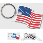 Promotional Sof-touch (r) - Flag Shape Key Tag