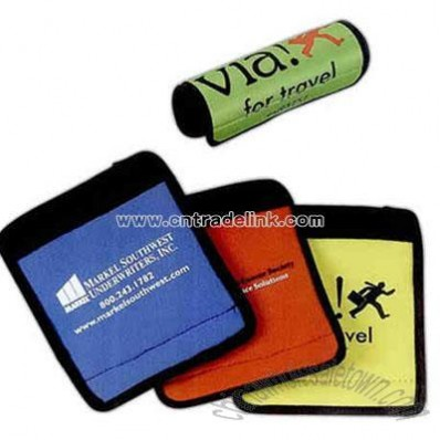 Promotional Soft Neoprene Handle Wrap With Velcro Closure For Luggage