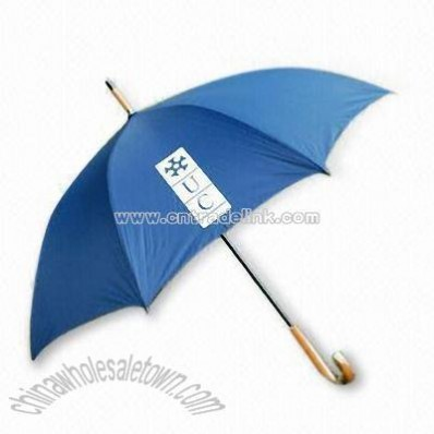 Promotional Umbrella with Wood Finish Handle