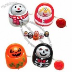 Pull Line Function Small Doll, Swing, Colorful Egg, Jack-o-lantern, Ghost, Snowman, Santa Claus