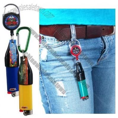 Pull Reel Lighter Leash - Retractable Lighter Holder